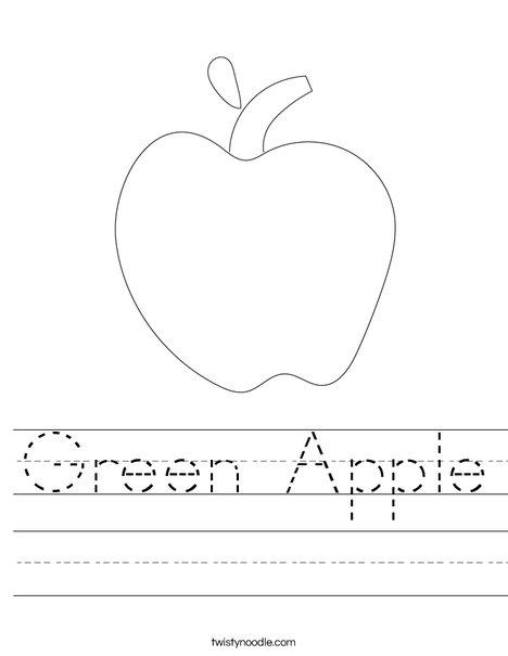 Apple Worksheet