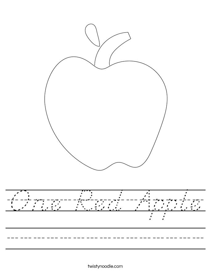 One Red Apple Worksheet
