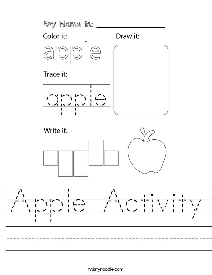 Apple Activity Worksheet
