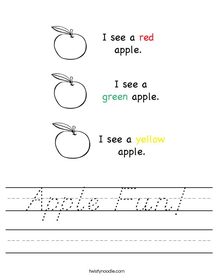 Apple Fun! Worksheet