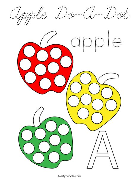 Apple Do-A-Dot Coloring Page