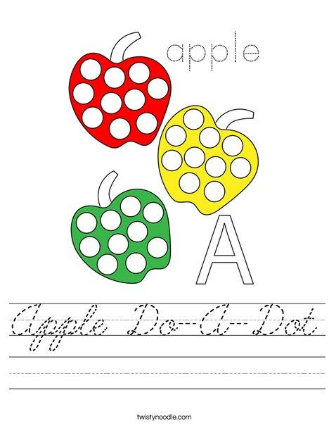 Apple Do-A-Dot Worksheet