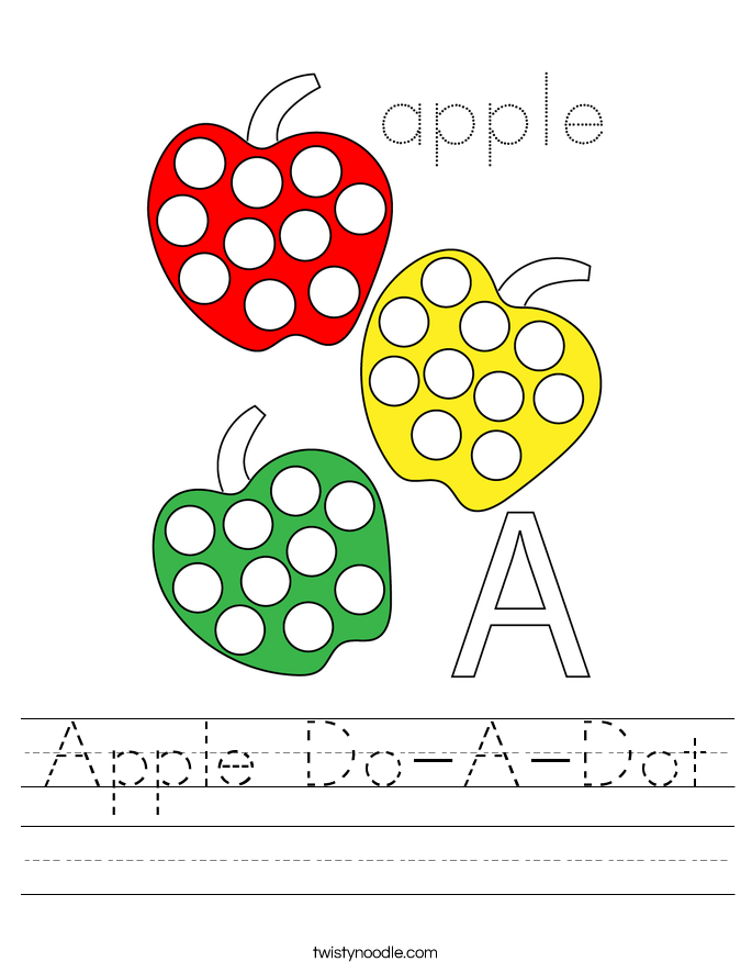 Apple Do-A-Dot Worksheet