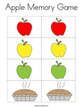 Apple Memory Game Coloring Page