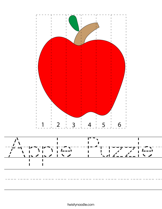 Apple Puzzle Worksheet