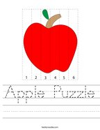 Apple Puzzle Handwriting Sheet