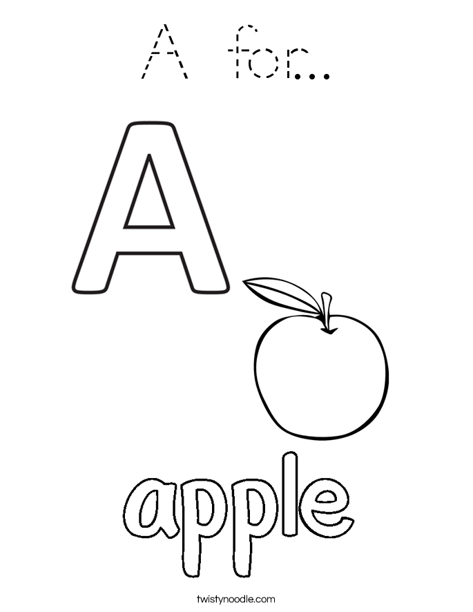 A for... Coloring Page