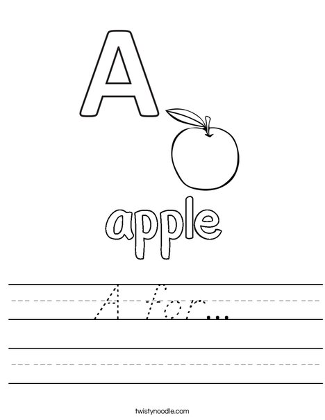 Apple starts with A Worksheet