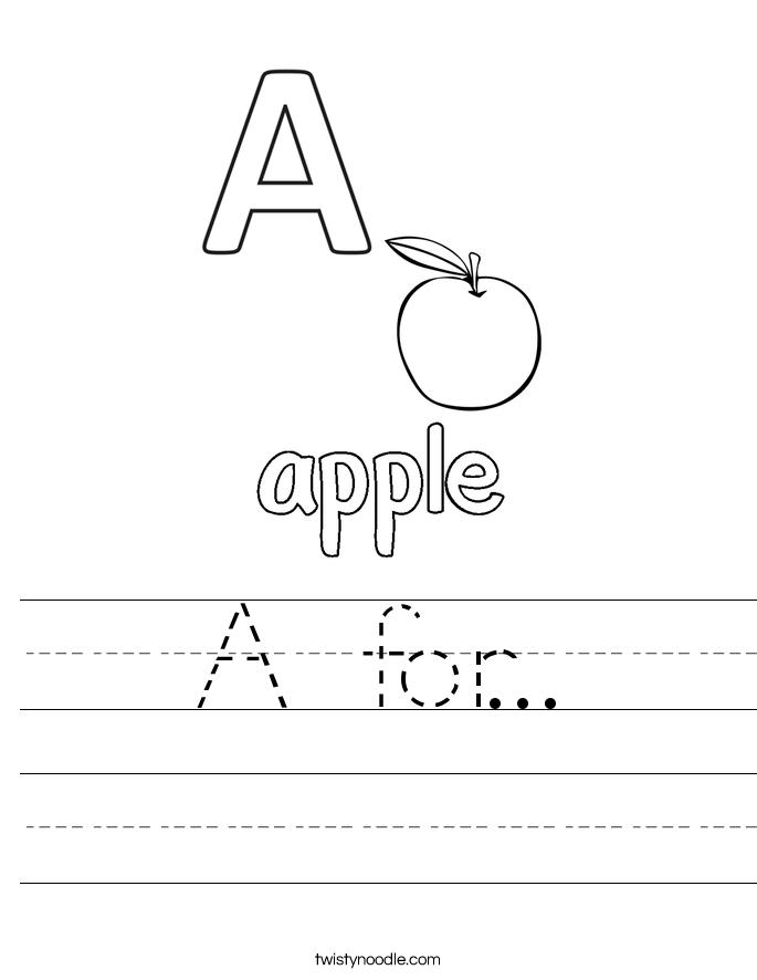 A for... Worksheet