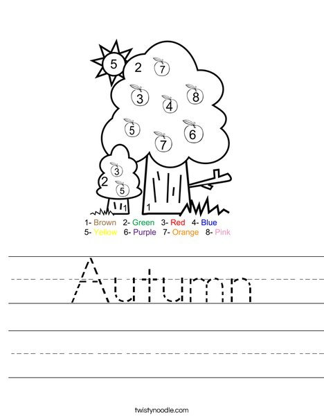 Apple Tree Worksheet