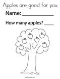 Apples are good for you Coloring Page