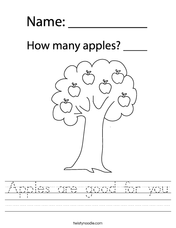Apples are good for you Worksheet