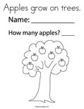 Apples grow on trees. Coloring Page