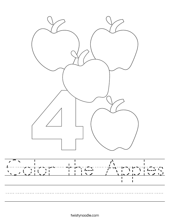 Color the Apples Worksheet
