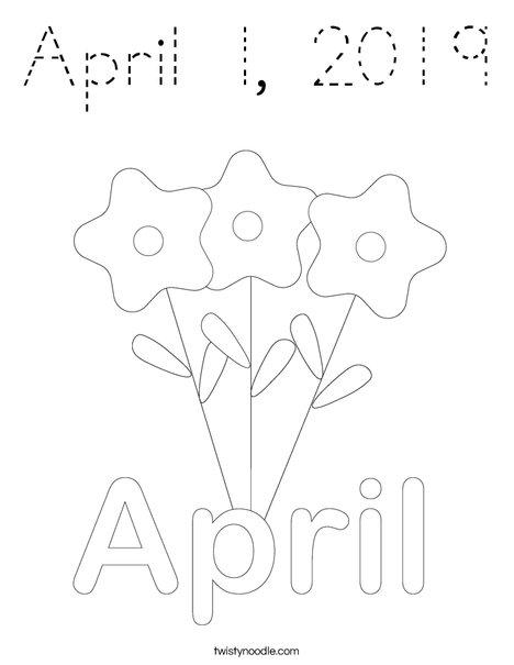 April 1 Coloring Page