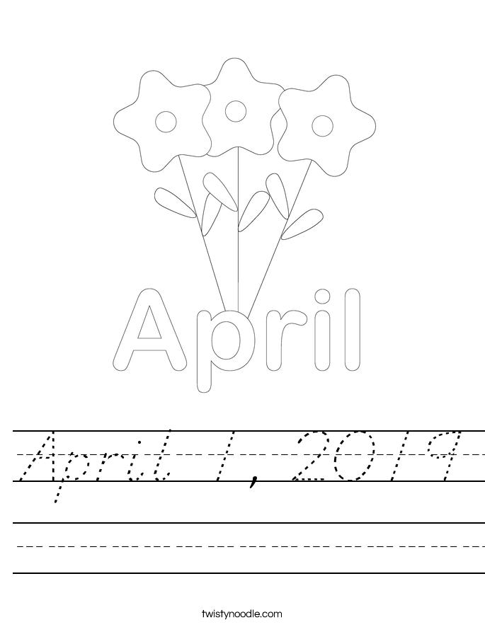 April 1, 2019 Worksheet