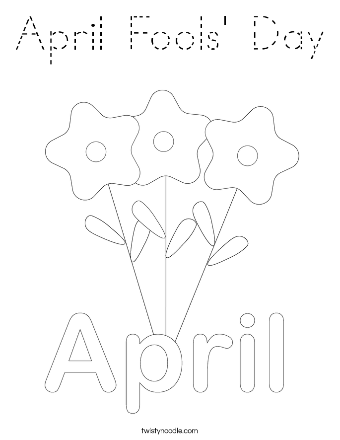 april fools day coloring pages - photo#24