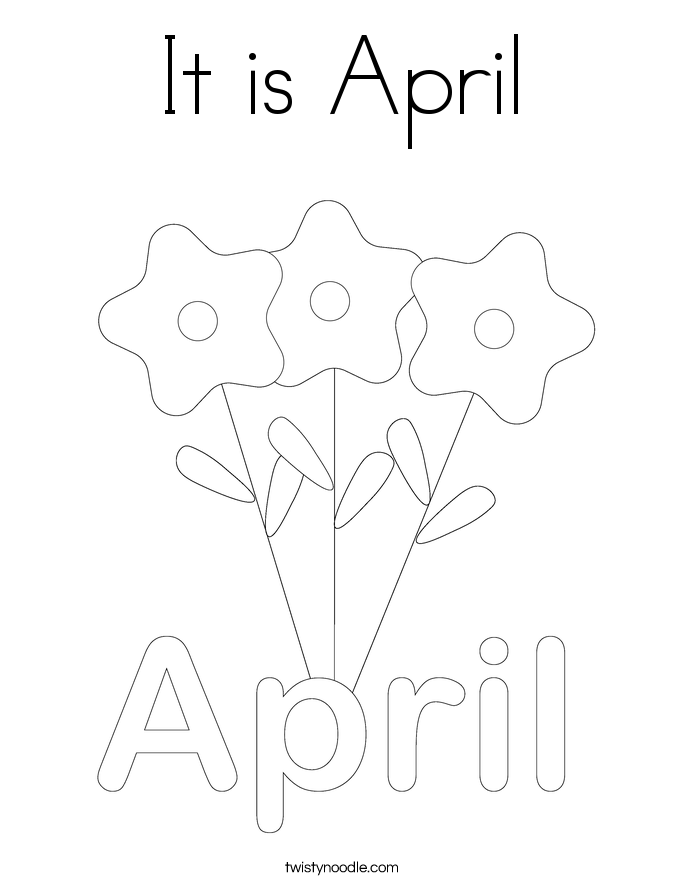 It is April Coloring Page