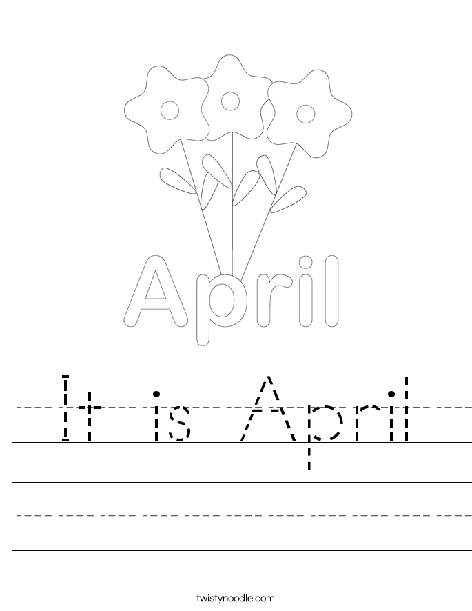 It is April Worksheet