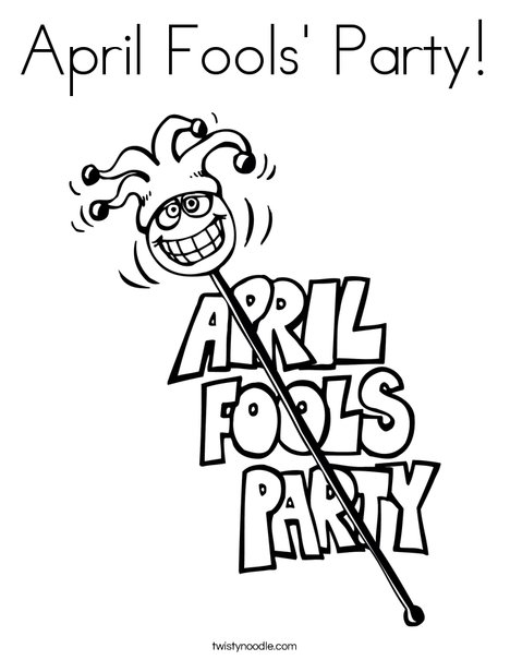 April Fools' Party Coloring Page