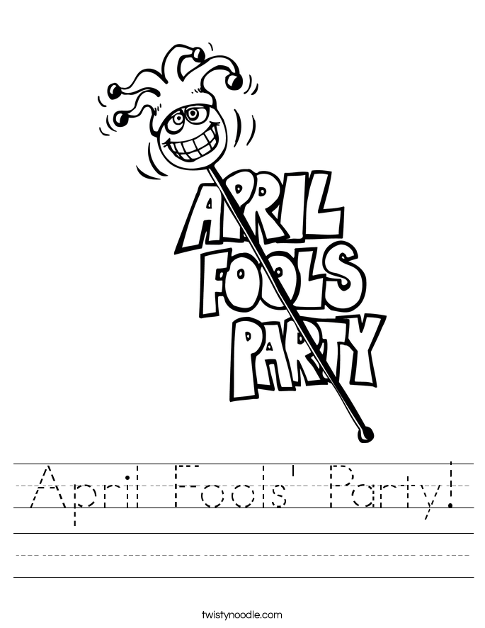 April Fools' Party! Worksheet