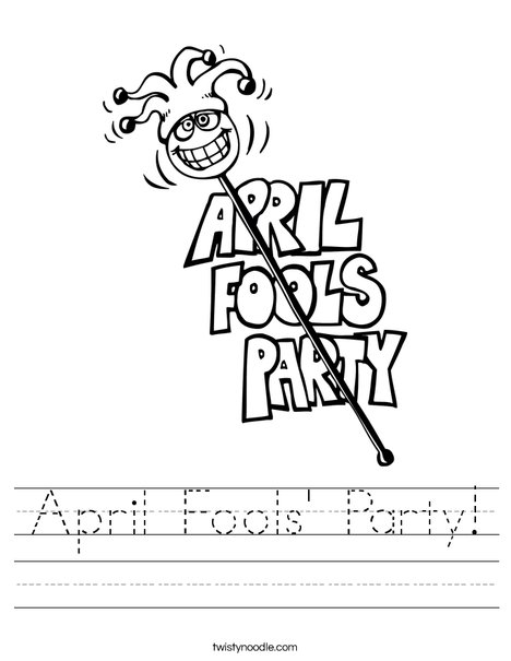 April Fools' Party Worksheet
