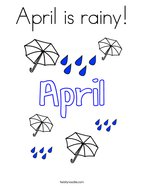 April is rainy Coloring Page