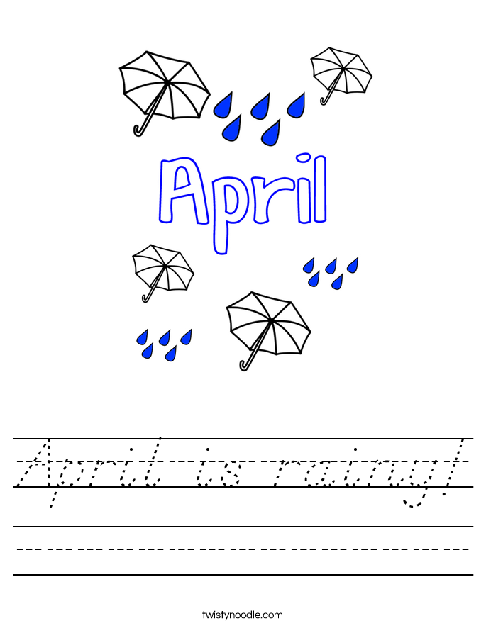 April is rainy! Worksheet
