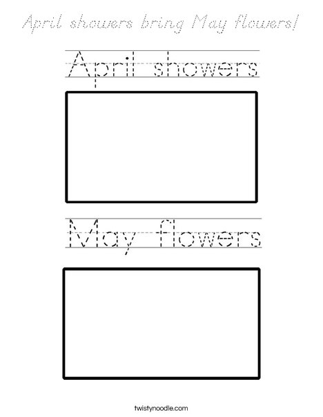 April showers bring May flowers! Coloring Page