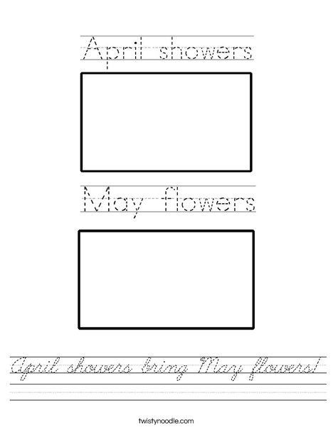 April showers bring May flowers! Worksheet