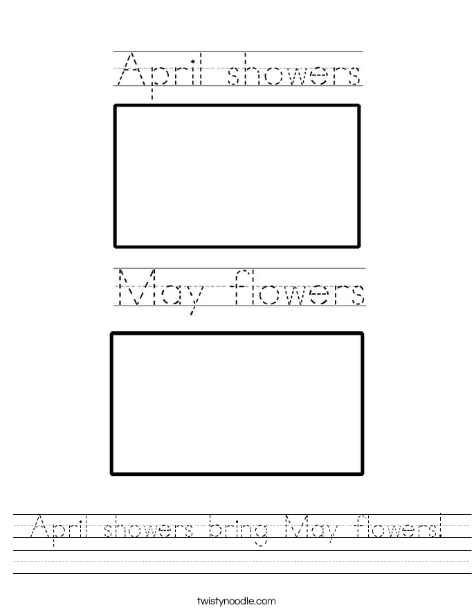 April showers bring May flowers! Worksheet