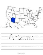 Arizona Handwriting Sheet