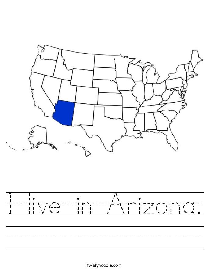 I live in Arizona. Worksheet