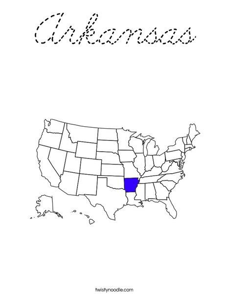 Arkansas Coloring Page
