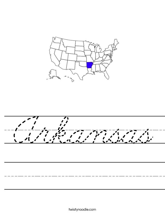 Arkansas Worksheet