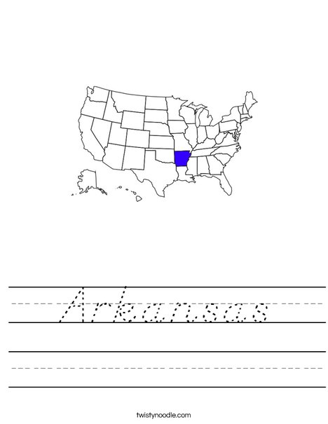 Arkansas Worksheet