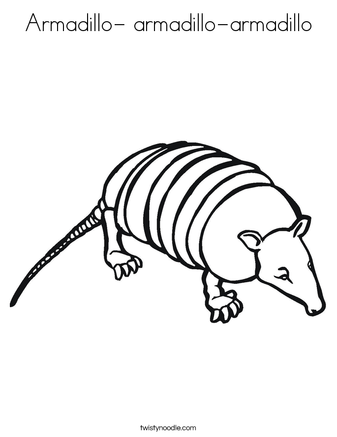 Armadillo- armadillo-armadillo Coloring Page