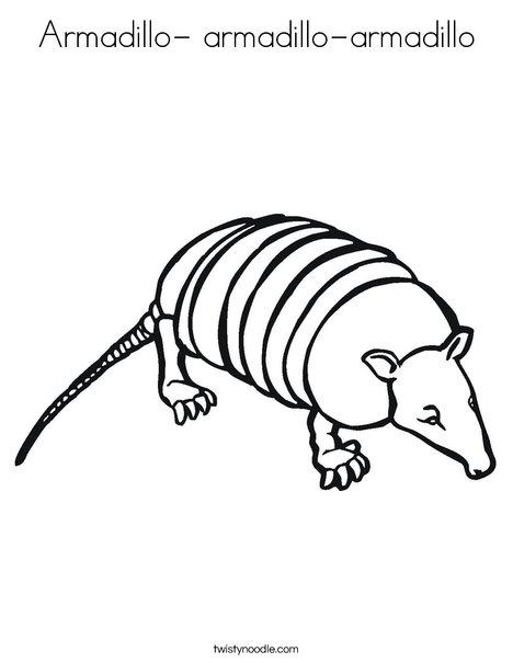 armadillo armadillo armadillo coloring page twisty noodle