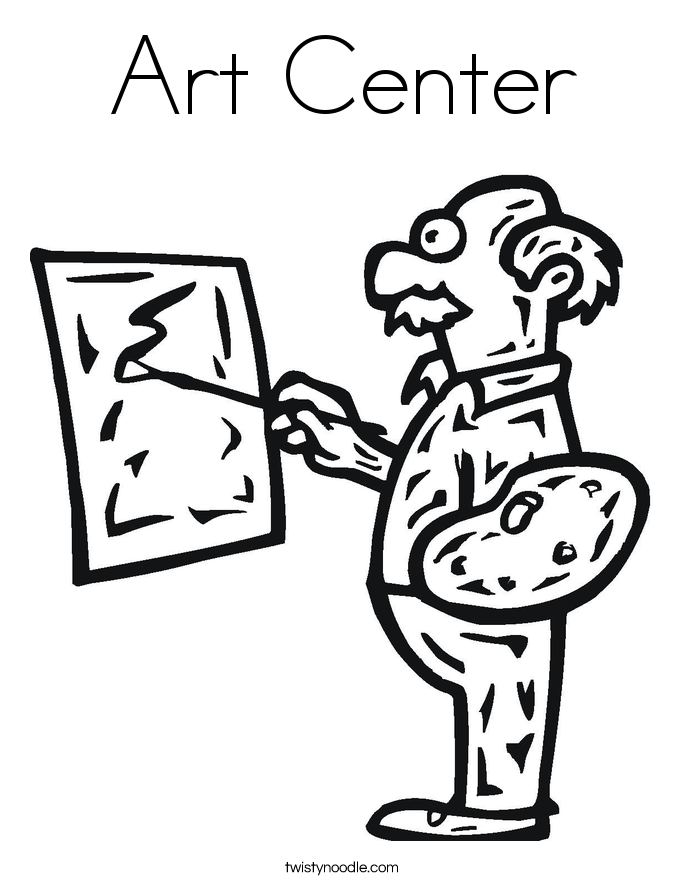 Art Center Coloring Page