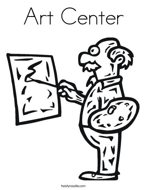 Art Center Coloring Page - Twisty Noodle
