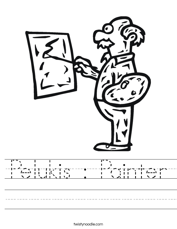 Pelukis : Painter Worksheet