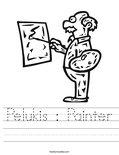 Pelukis : Painter Worksheet