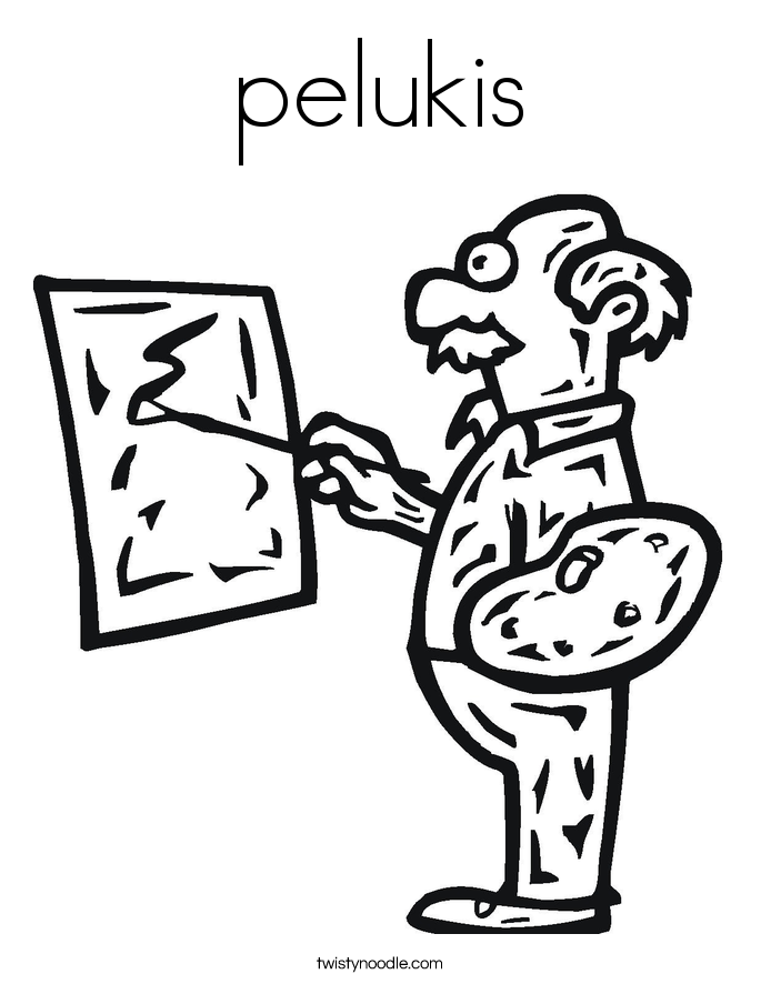 pelukis Coloring Page