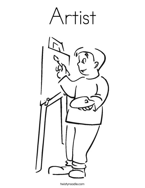 Delicieux Boy Artist Coloring Page