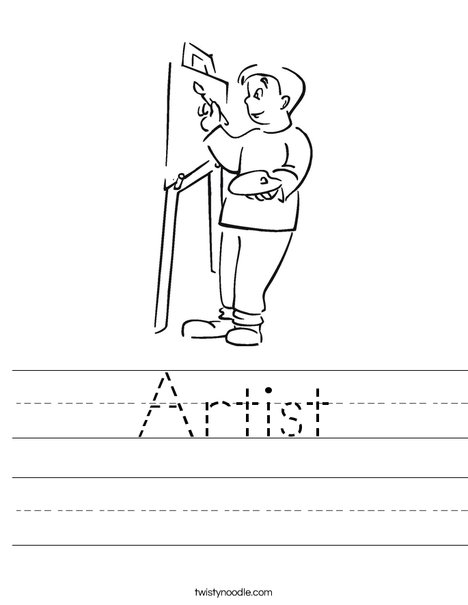 Boy Artist Worksheet