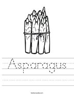 Asparagus Handwriting Sheet