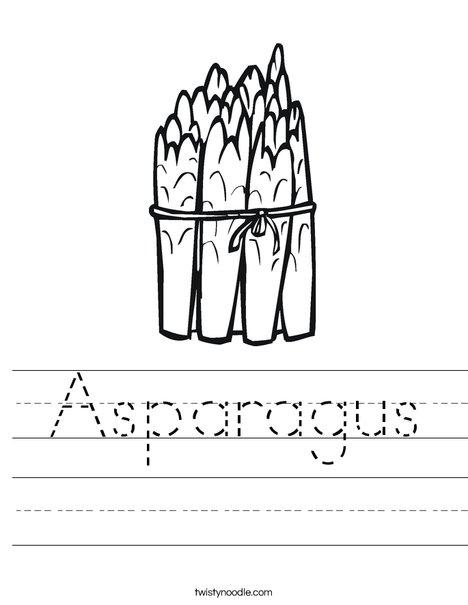 Asparagus Worksheet