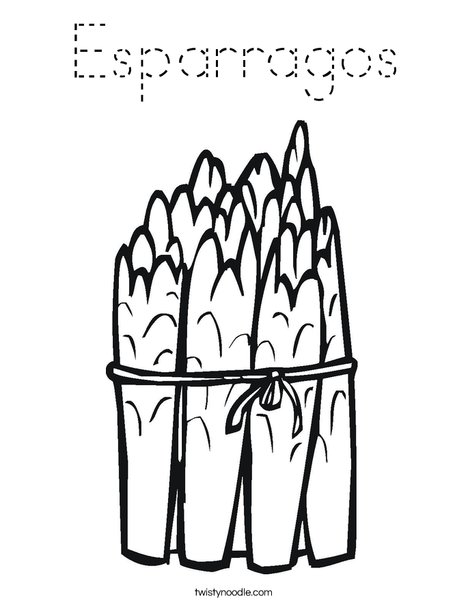 Asparagus Coloring Page