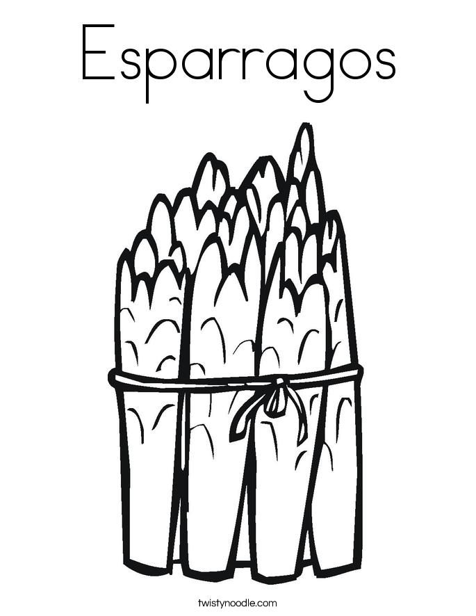 Esparragos Coloring Page