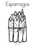 EsparragosColoring Page